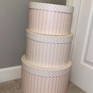 Round, Decorative Storage Containers (3)